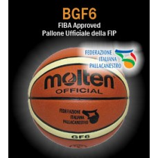 Pallone basket Molten B6G4000 (ex BGF6X) size 6 femminile, FIBA Approved - Ufficiale FIP