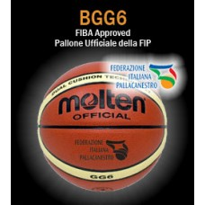 Pallone basket Molten B6G4500 (ex BGG6X), size 6 femminile. FIBA Approved-Ufficiale FIP - SERIE A