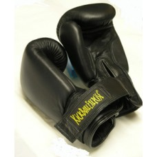 "GUANTO FULL CONTACT/BOXE ""KBE""  PELLE NAT. 10 OZ. CON VELCRO"