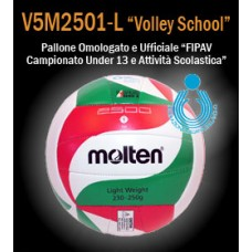 Pallone pallavolo MOLTEN V5M2501-L  volley school  Under 13
