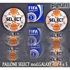 Pallone SELECT modello GALAXY FIFA INSPECT. disponibile size 4 e 5
